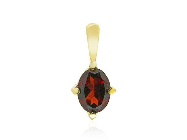 9ct Yellow Gold Garnet Pendant
