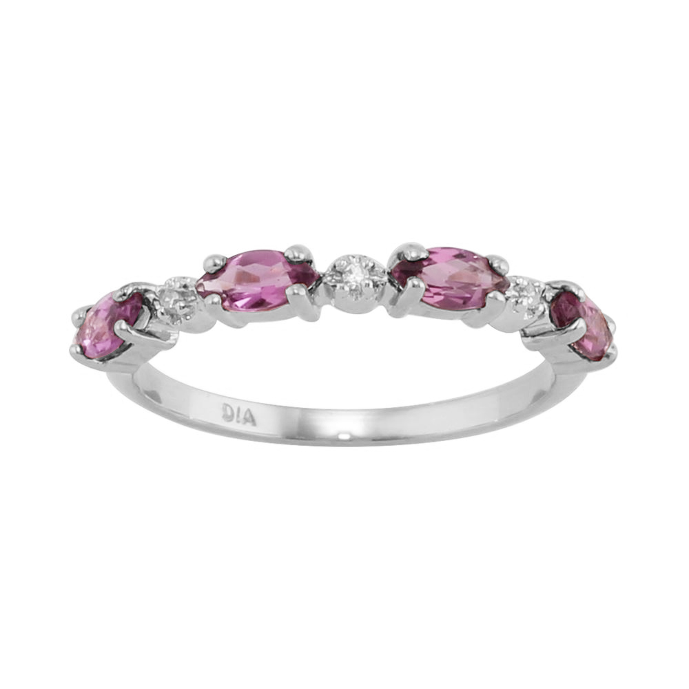 925 sterling silver 0 64ct pink sapphire silver