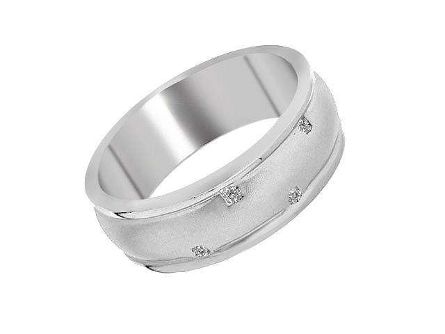 925 Sterling Silver Diamond Set Ring