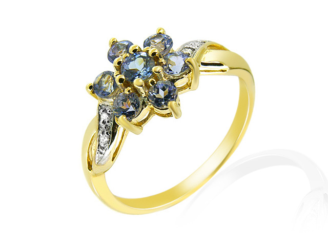 9ct Yellow Gold Tanzanite