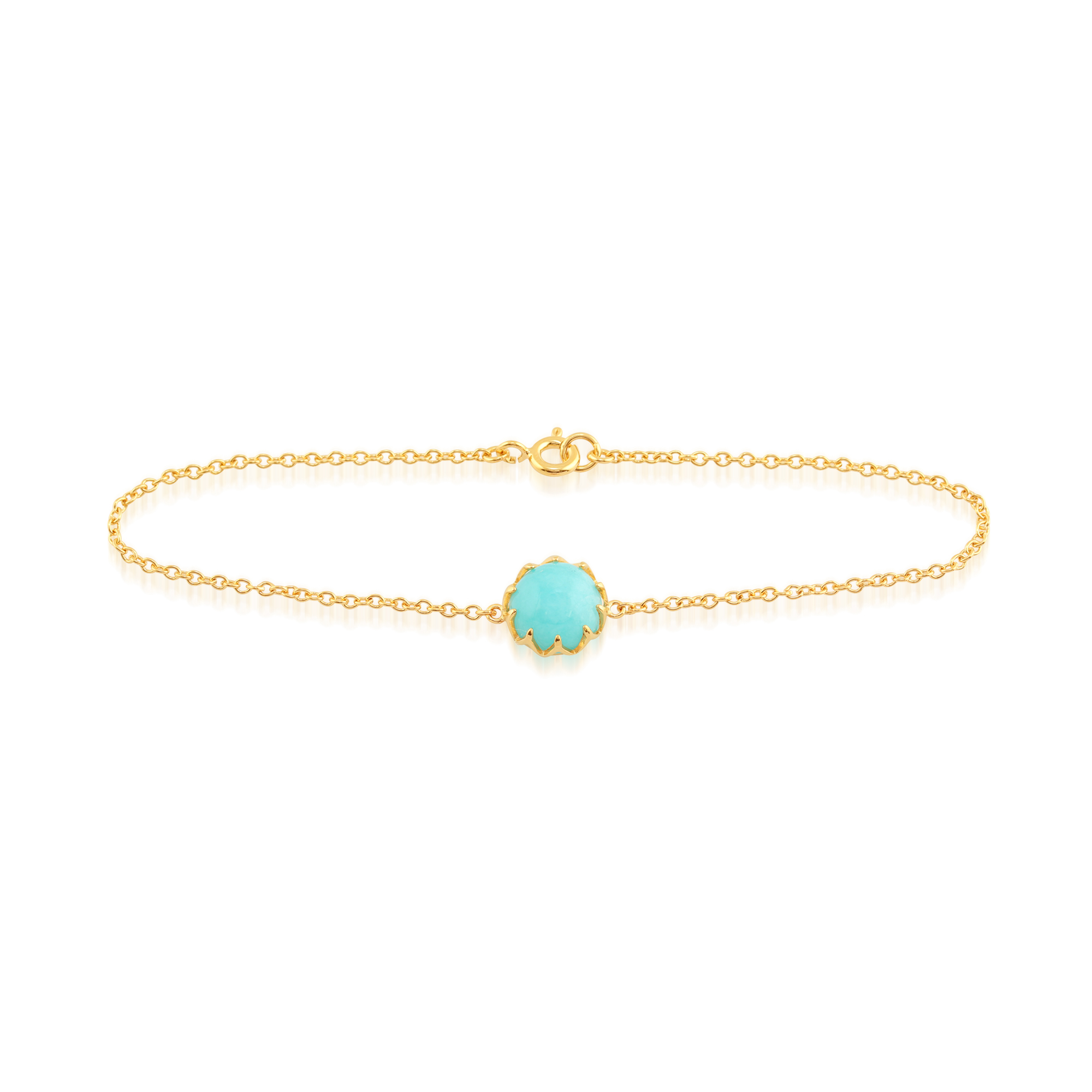 Amazonite 'Calo' Pastel Bracelet in 9ct Yellow Gold Plated Sterling Silver