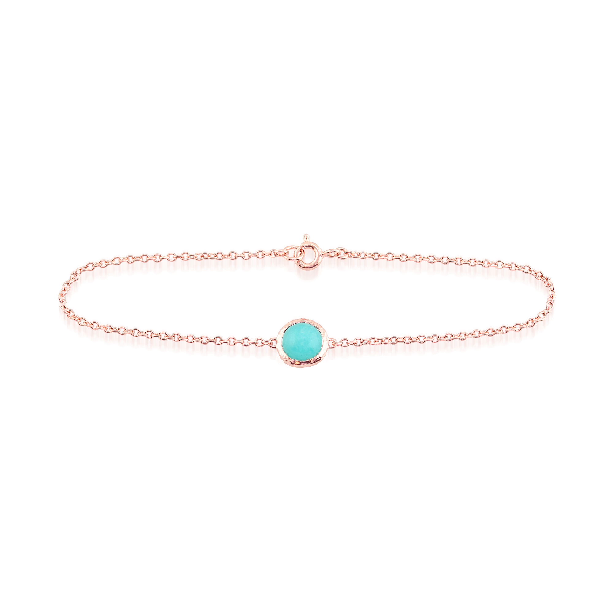 Amazonite 'Irida' Pastel Bracelet in 9ct Rose Gold Plated Sterling Silver