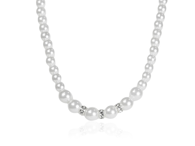 Bridal Silver Tone Pearl