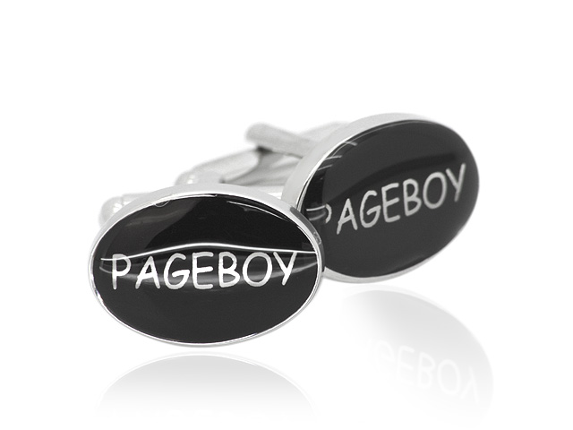 Silver Tone 'Pageboy' Design Cufflinks