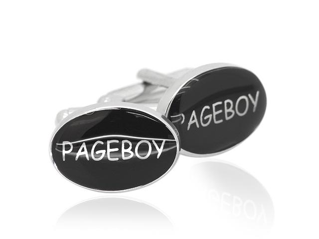 Silver Tone 'Pageboy' Design Cufflinks