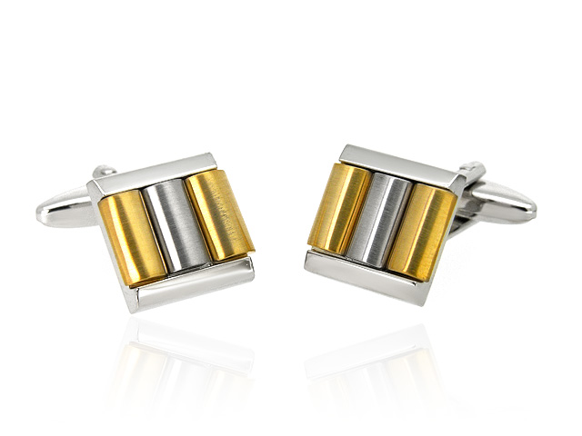 Two Tone Contemporary Men's Cufflinks