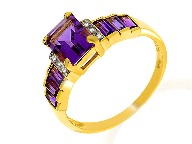 9ct Yellow Gold Amethyst