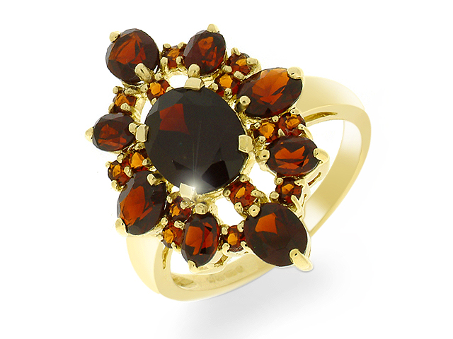 9ct Garnet Set Yellow Gold Ring
