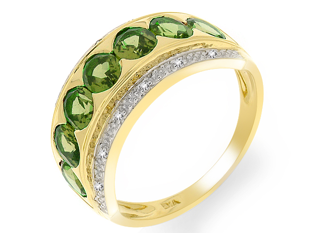 9ct Yellow Gold Green Tourmaline