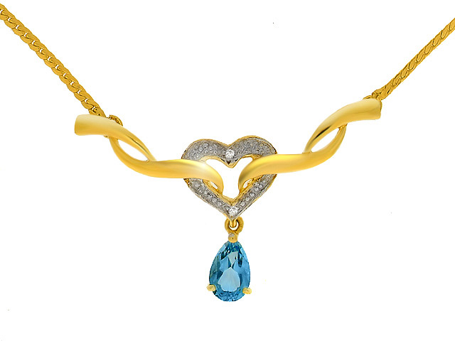 9ct Yellow Gold Blue Topaz