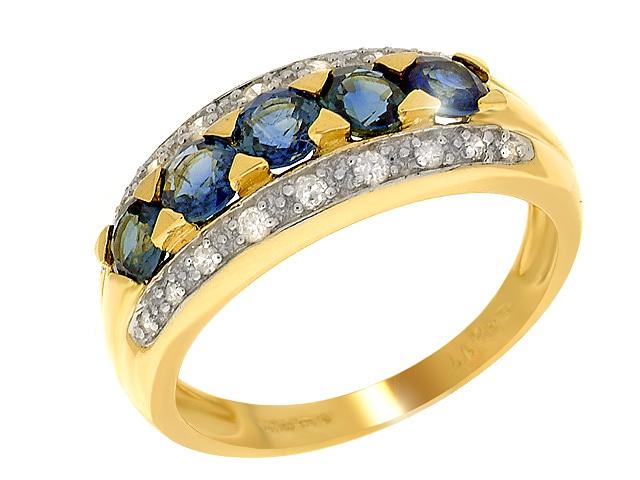 9ct Yellow Gold Sapphire