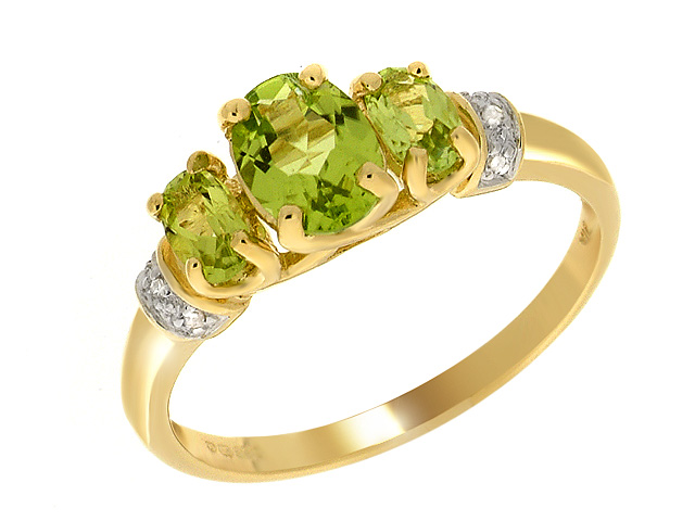 9ct Yellow Gold Peridot