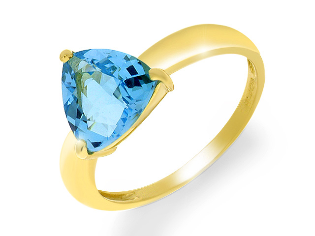 9ct Yellow Gold Blue Topaz Cocktail Ring