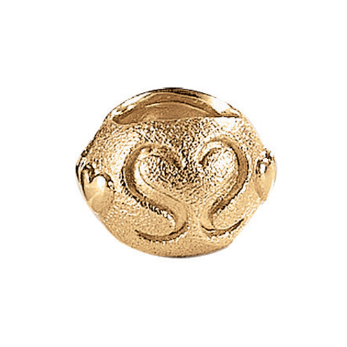 Blossom Gold Plated Matt Silver Bracelet Lock Charm