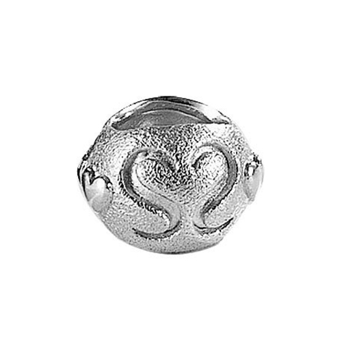 Blossom Matt Silver Bracelet Lock Charm