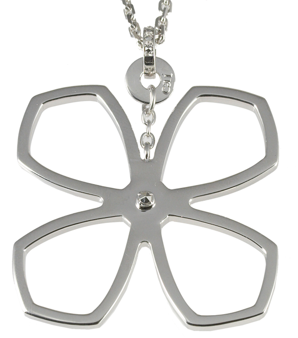 Cai Jewels 925 Sterling Silver 45cm Floral Necklace