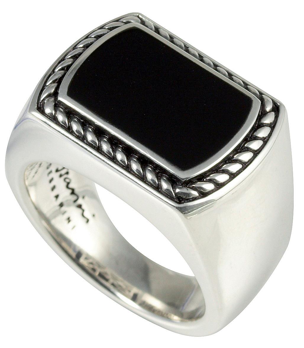 Baldessarini Sterling Silver Mens Black Onyx Designer Ring Y2014R/90/13/