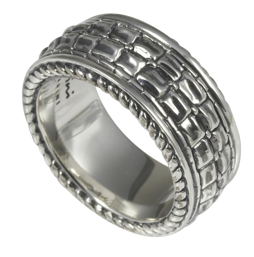 Baldessarini Sterling Silver Mens Patterned Designer Ring Y2033R/90/00/
