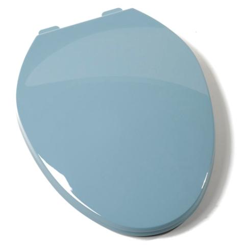comfort seats c1b3e3 45 plastic elongated toilet seat regency blue