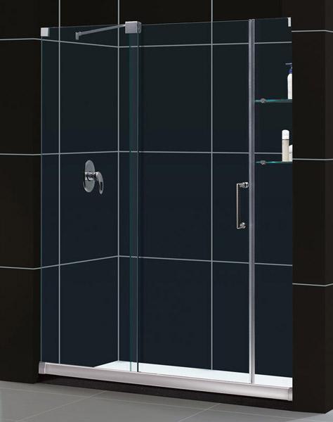 DreamLine DL-6438R-01CL Mirage Frameless Shower Door & 32 x 60 Base