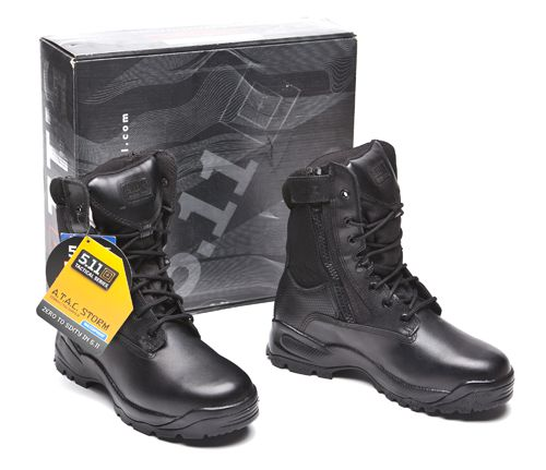 "5.11 Tactical 5.11 Storm 8"" Side Zip Black, 10 Regular 12004-019-10-R at Sears.com"