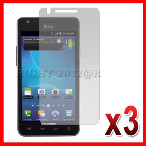 3X Anti Glare Matte LCD Screen Protector Cover for Samsung Galaxy S2 II i777 ATT