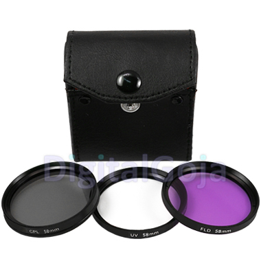 FLD Filter + Lens Hood + Adapter Ring for Canon PowerShot SX40 SX50 HS