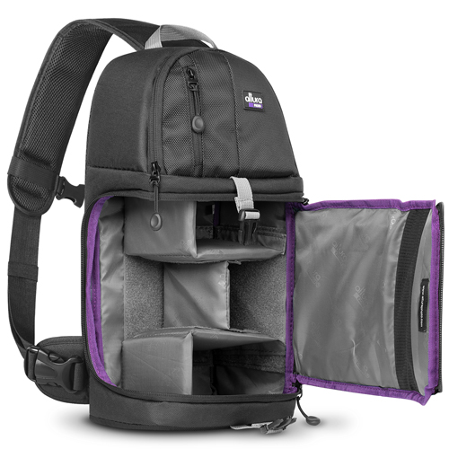 Camera Sling Backpack Bag for Canon Nikon Sony DSLR & Mirrorless ...
