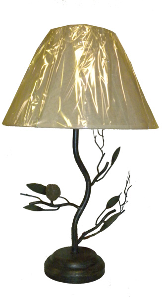 bird tree branch accent metal table lamp desk light ebay. Black Bedroom Furniture Sets. Home Design Ideas