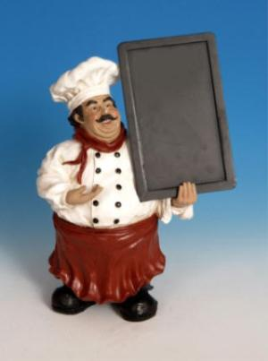 Fat Italian French Chef Cafe Statue Bistro Chalkboard Menu Flawed See Details Ebay