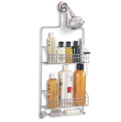 chrome jumbo shower caddy tiered baskets guest teen college dorm see details ebay. Black Bedroom Furniture Sets. Home Design Ideas