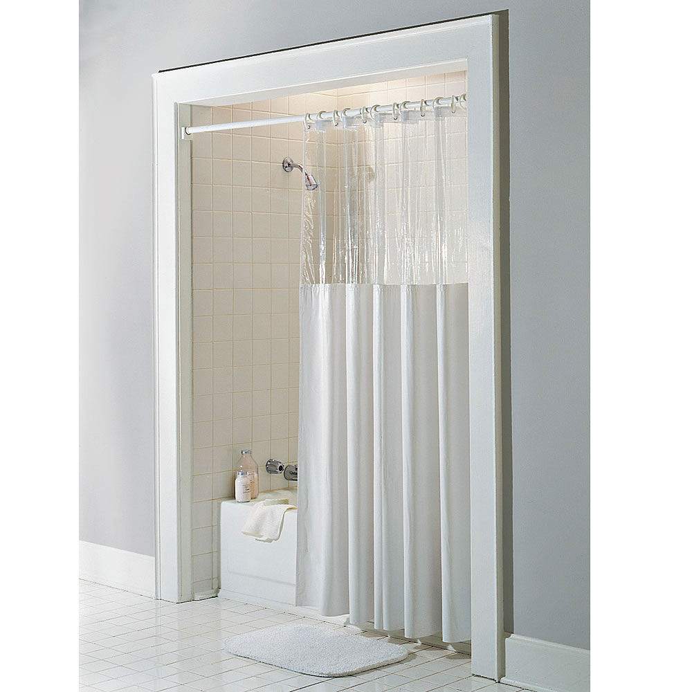 Window Vinyl Clear Top Shower Curtain 72 X 84 X Long Ebay