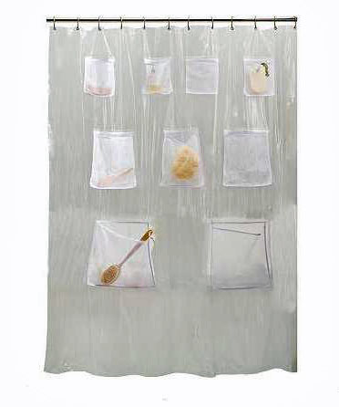 Painters Drop Cloth Curtains Shower Curtain with Sleeves