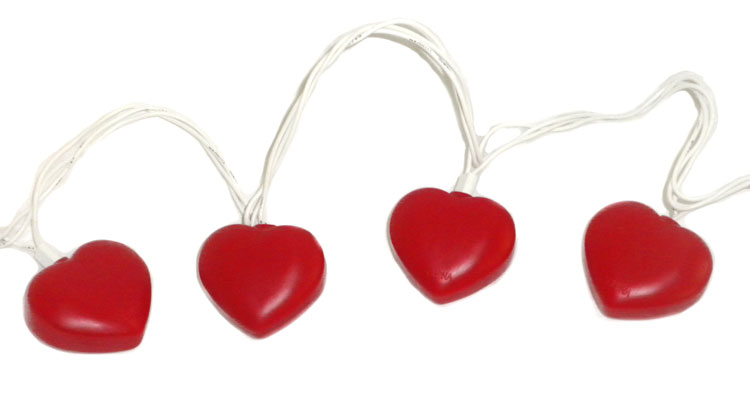 heart shaped party string lights set valentines day indoor outdoor - Valentine String Lights