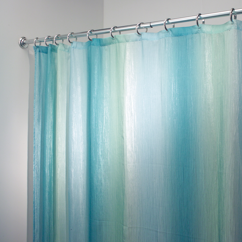 Ombre Jewel Turquoise Green Fabric Shower Curtain New Ebay