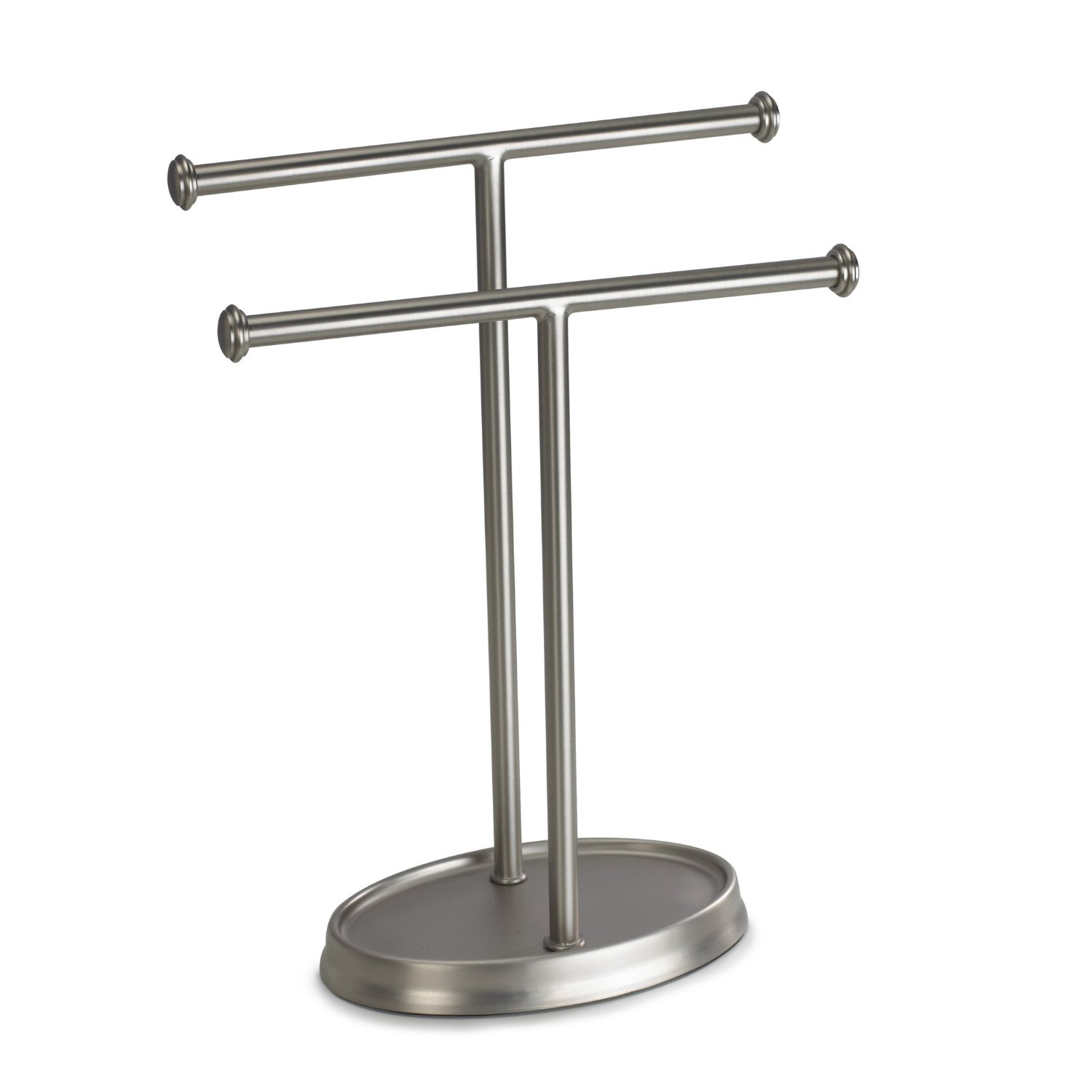 umbra palm double hand towel tree holder nickel bath
