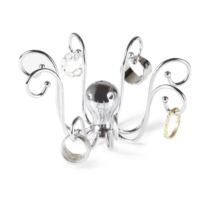 Octopus ring holder unique jewelry storage decor chrome ebay for Room decor jewelry holder