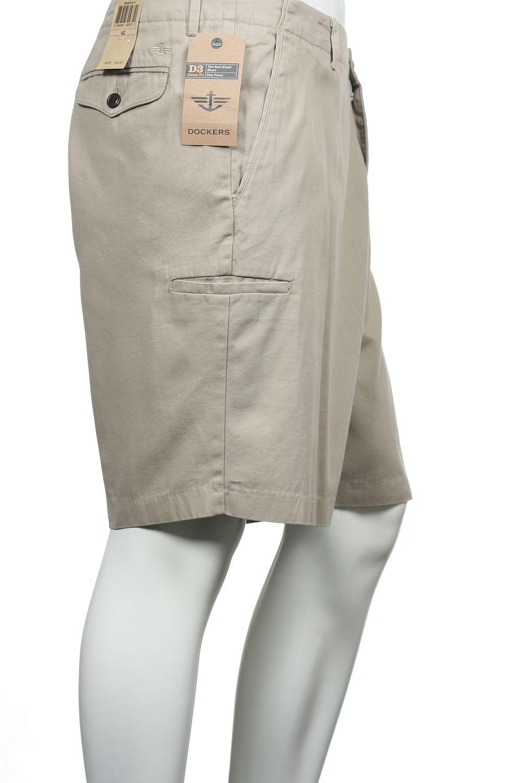 Dockers Khaki Flat Front Walking Shorts 42 $44 | eBay