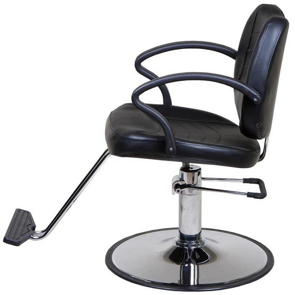 Mae black classic beauty salon hydraulic styling chair for Hydraulic chairs beauty salon