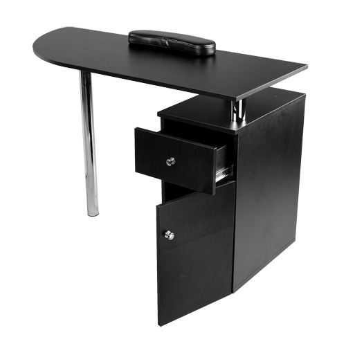 Brand new black nail salon manicure table mf 09b ebay for Black nail desk