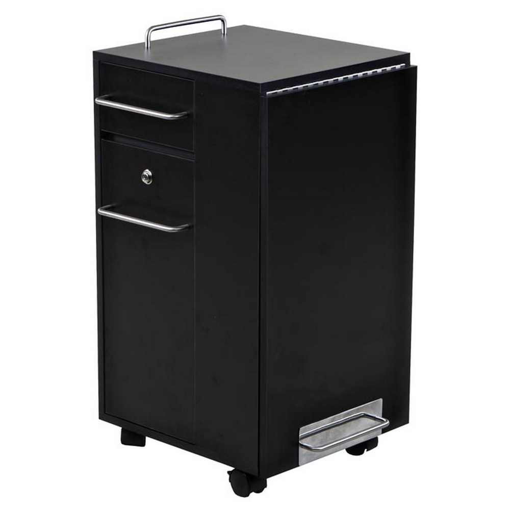 New folding black nail salon manicure table mf 01b ebay for Fold away nail table