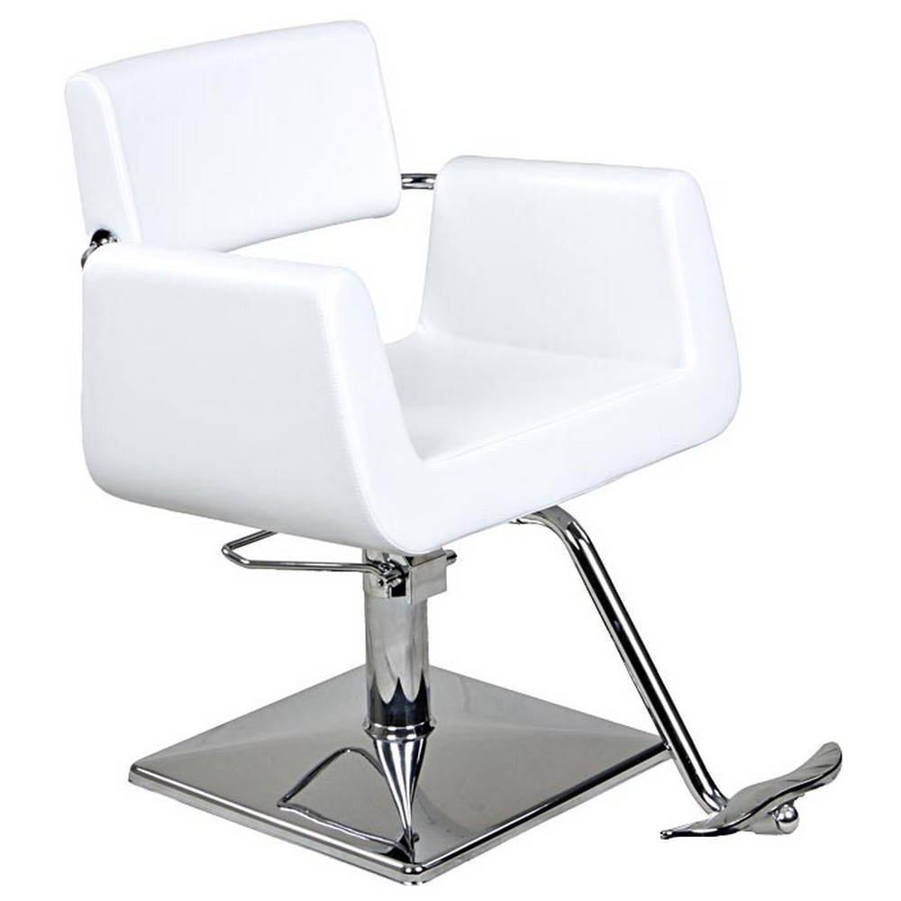 New white european hydraulic salon styling chair sc 31w ebay for White salon furniture