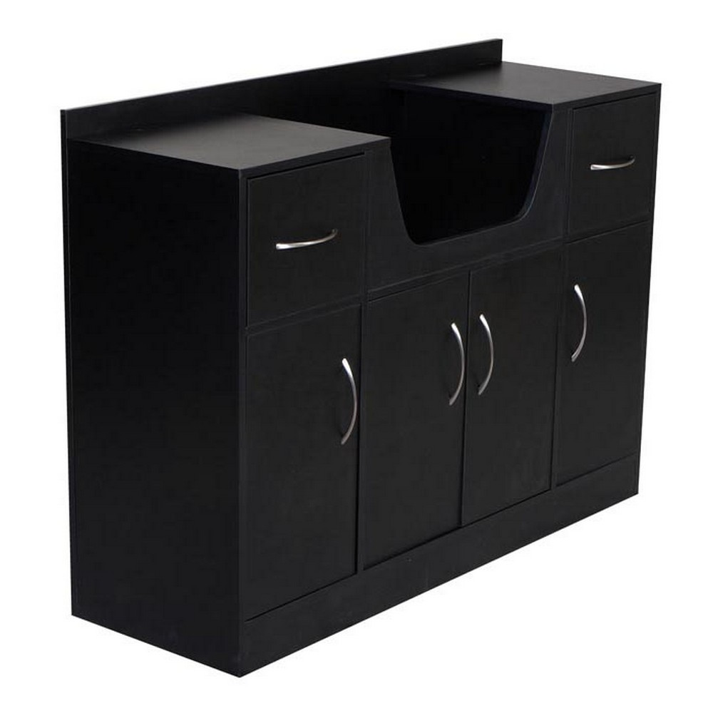 New salon shampoo station storage cabinet su 33 for Armoire salon design