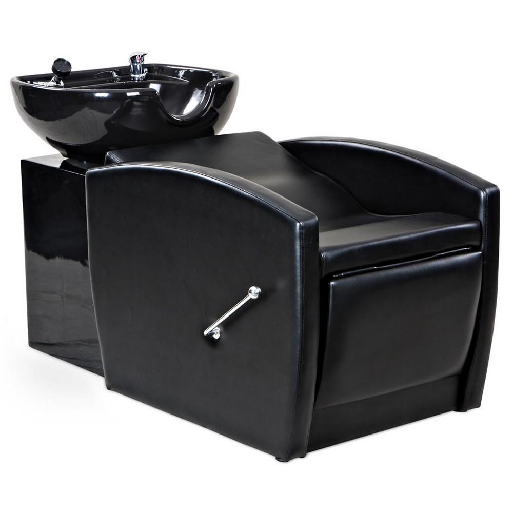 Gardner black beauty salon shampoo chair sink bowl unit for Salon shampoo chairs