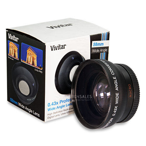 wide angle telephoto close up lens amp filter kit for canon