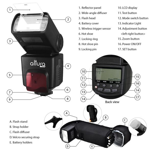 altura photo studio 3 flash lights for nikon dslr d7100 5300 d5200 d3300 d3200 ebay nikon d1x instruction manual Nikon F5