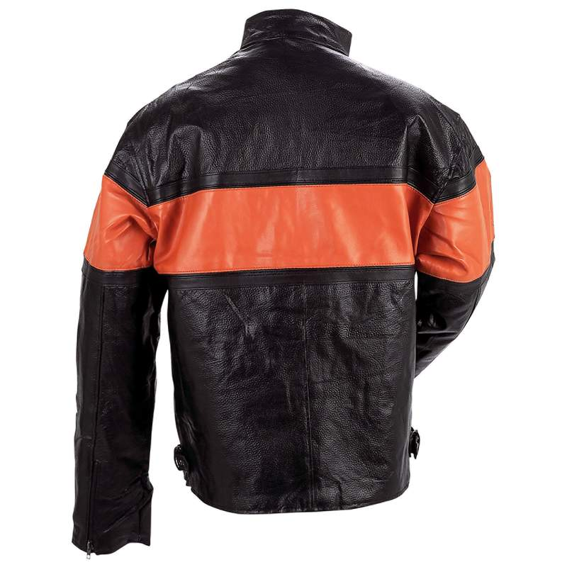 Diamond Plate Men's Hand-Sewn Pebble Grain Genuine Leather Jacket at Sears.com