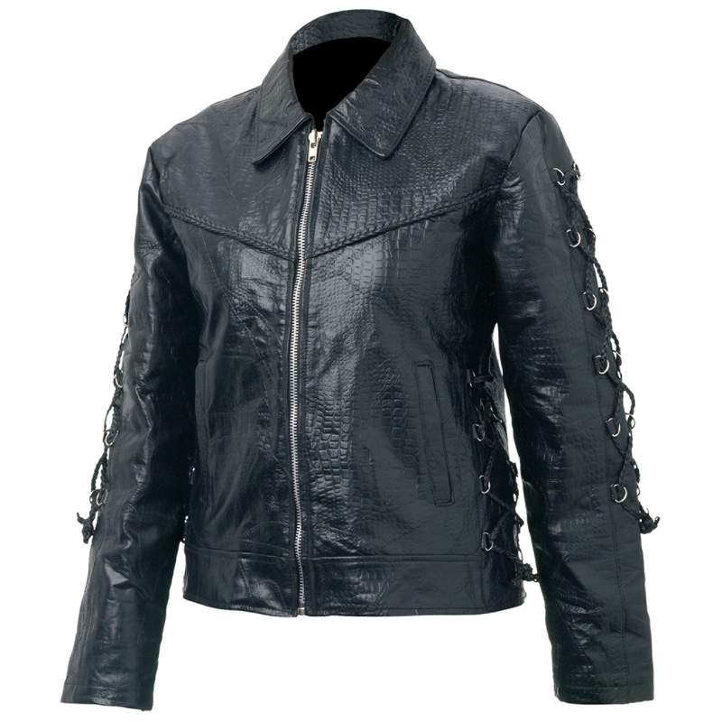 Giovanni Navarre Ladies' Hand-Sewn Pebble Grain Genuine Buffalo Leather Jacket at Sears.com