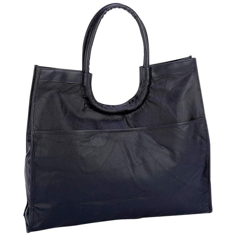 Embassy Hand-Sewn Pebble Grain Genuine Leather Shopping Bag at Sears.com