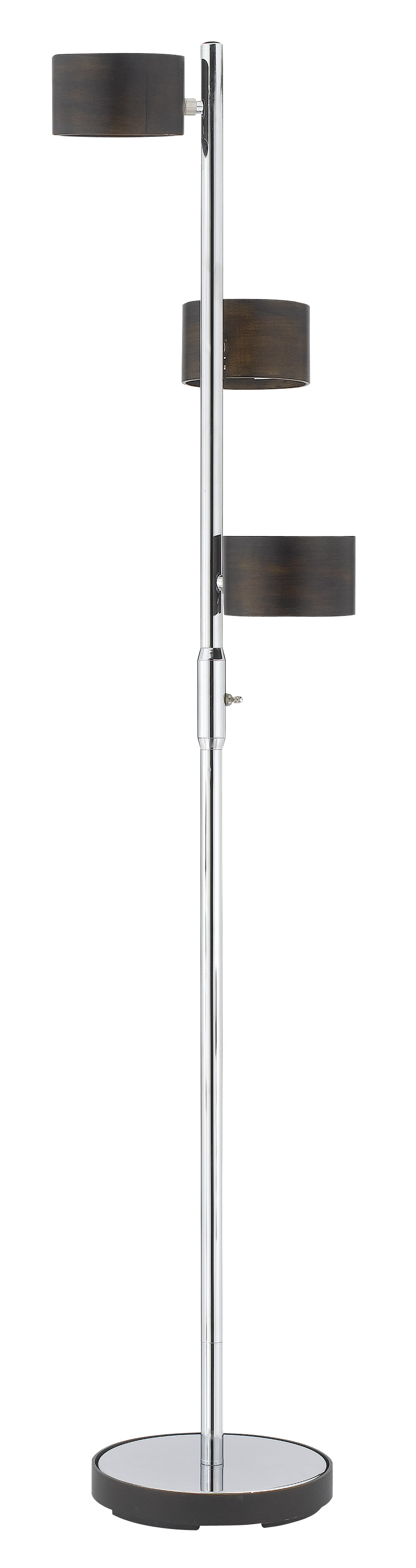 Cal Lighting  Cal Lighting Floor Lamp - Brushed Steel/Wood, BO-2040FL